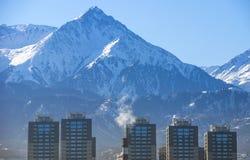Montanhas do transporte-Ili Alatau Imagem de Stock