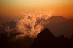 Montanhas do ventilador fotos de stock royalty free