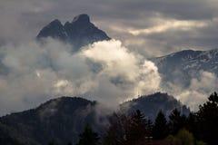 Montanhas dos cumes, Zugspitze Imagens de Stock