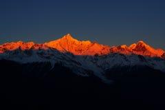 Montanhas douradas imagens de stock