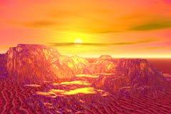 Montanhas douradas ilustração do vetor