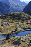 Montanhas e água no vale de Tena, Pyrenees Panticosa Imagem de Stock Royalty Free