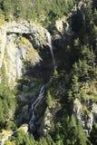 Montanhas e água no vale de Tena, Pyrenees Urdiceto Fotografia de Stock Royalty Free