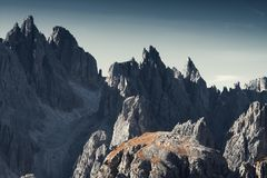 Montanhas e dolomites bonitas do panorama das rochas, Itália Foto de Stock Royalty Free