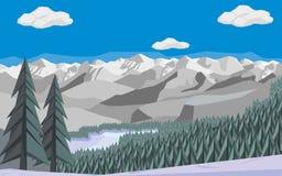 Montanhas e floresta Fotos de Stock