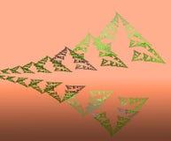 Montanhas e floresta abstratas da reflexão ilustração royalty free