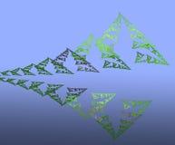 Montanhas e floresta abstratas da reflexão ilustração stock