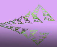 Montanhas e floresta abstratas da reflexão ilustração do vetor