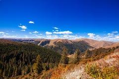 Montanhas e floresta tibetanas foto de stock royalty free