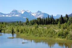 Montanhas e florestas Foto de Stock Royalty Free