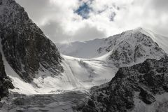 Montanhas e geleira. Foto de Stock Royalty Free