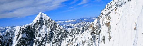 Montanhas e geleiras Fotografia de Stock Royalty Free