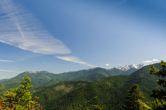 Montanhas e geleiras de Huricane Ridge Fotografia de Stock Royalty Free