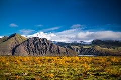 Montanhas e glacer islandêses Foto de Stock