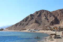 Montanhas e mar em Sinai Fotos de Stock
