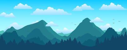 Montanhas e paisagem da floresta no dia ensolarado imagens de stock