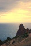 Montanhas e paisagem do mar Imagem de Stock Royalty Free