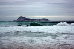 Montanhas e praias de Brasil Imagem de Stock
