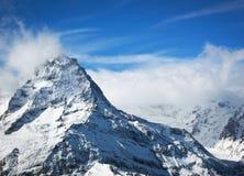 Montanhas elevadas da neve, Elbrus Imagem de Stock