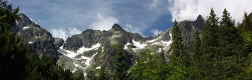 Montanhas elevadas de Tatras, Slovakia Fotografia de Stock Royalty Free