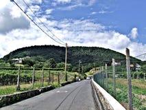 Montanhas em Badacsony fotografia de stock royalty free