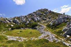 Montanhas em Biokovo Fotografia de Stock