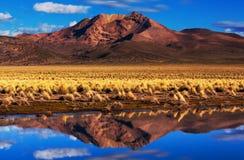 Montanhas em Bolívia Fotos de Stock Royalty Free