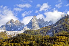Montanhas em Chamonix Foto de Stock Royalty Free
