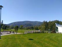 Montanhas em Europa no verão fotos de stock