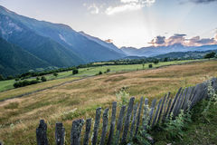 Montanhas em Geórgia Imagens de Stock