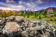 Montanhas em Kazakhstan fotos de stock