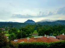 Montanhas em México, Valle de Bravo foto de stock