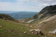 Montanhas em Quirguizistão Fotografia de Stock Royalty Free