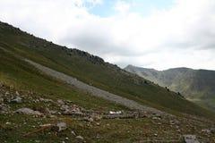 Montanhas em Quirguizistão Fotos de Stock