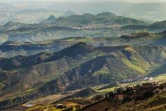 Montanhas em Sicília, Itália fotos de stock