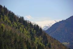 Montanhas em três níveis Imagens de Stock