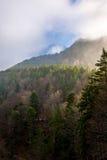 Montanhas enevoadas fotos de stock royalty free