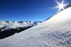 Montanhas ensolaradas Fotografia de Stock Royalty Free