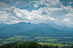 Montanhas ensolaradas de Tatra Fotos de Stock Royalty Free