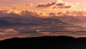 Montanhas eslovacas do inverno Fotografia de Stock