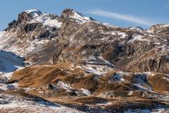 Montanhas frontera del Portalet de Pyrenees, Huesca, Aragon, Espanha Fotos de Stock Royalty Free