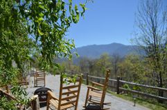 Montanhas fumarentos em Gatlinburg, Tennessee fotos de stock royalty free