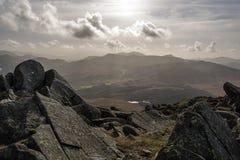 Montanhas Gales norte de Snowdonia Fotos de Stock Royalty Free