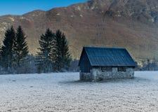Montanhas gelados Fotografia de Stock Royalty Free
