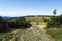 Montanhas Hruby Jesenik de Jeseniky Fotos de Stock Royalty Free