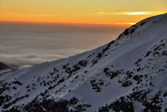 Montanhas Krkonose Foto de Stock Royalty Free