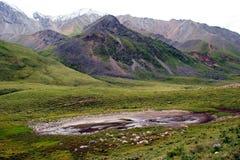 Montanhas, lagos, lago da montanha, Sibéria, Baikal, noite, Rússia, viagem imagens de stock royalty free
