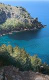Montanhas Mallorca de Tramuntana da opinião do mar Fotos de Stock