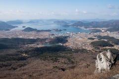 Montanhas, mar e ilhas Fotos de Stock Royalty Free