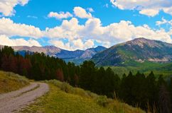 Montanhas Montana de Pintler Fotografia de Stock Royalty Free